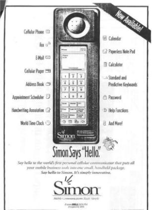 Bellsouth Ibm Simon Pda Cellph